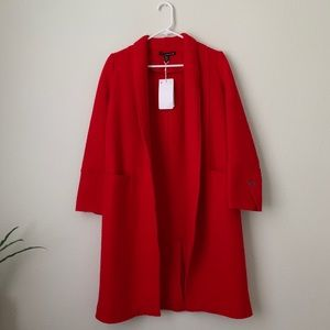 Zara long red coat!
